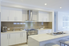 kitchen with all white cabinets