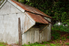Rusty roof on metal garage