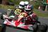 go karts side by side in a race
