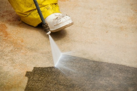 cleaning paint off concrete doityourself com