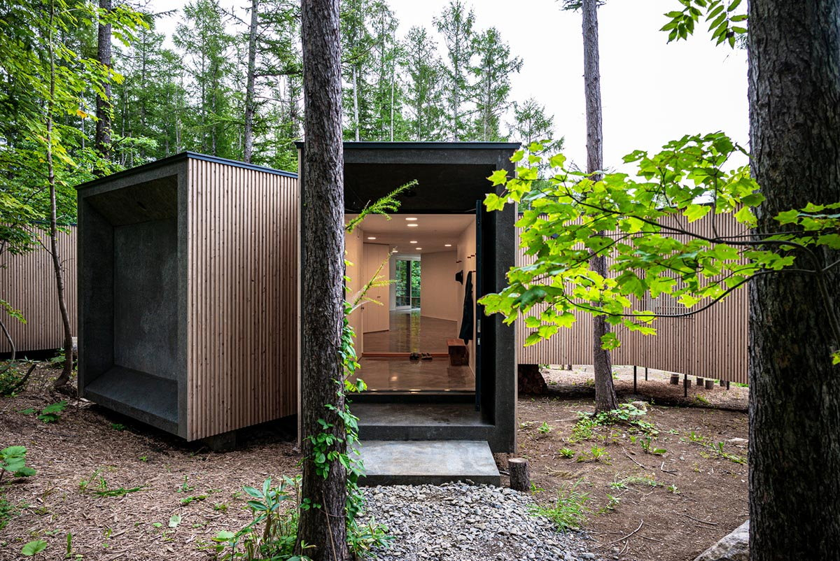 Branch-Shaped House in the Forest Enables Solitude at Family Gatherings