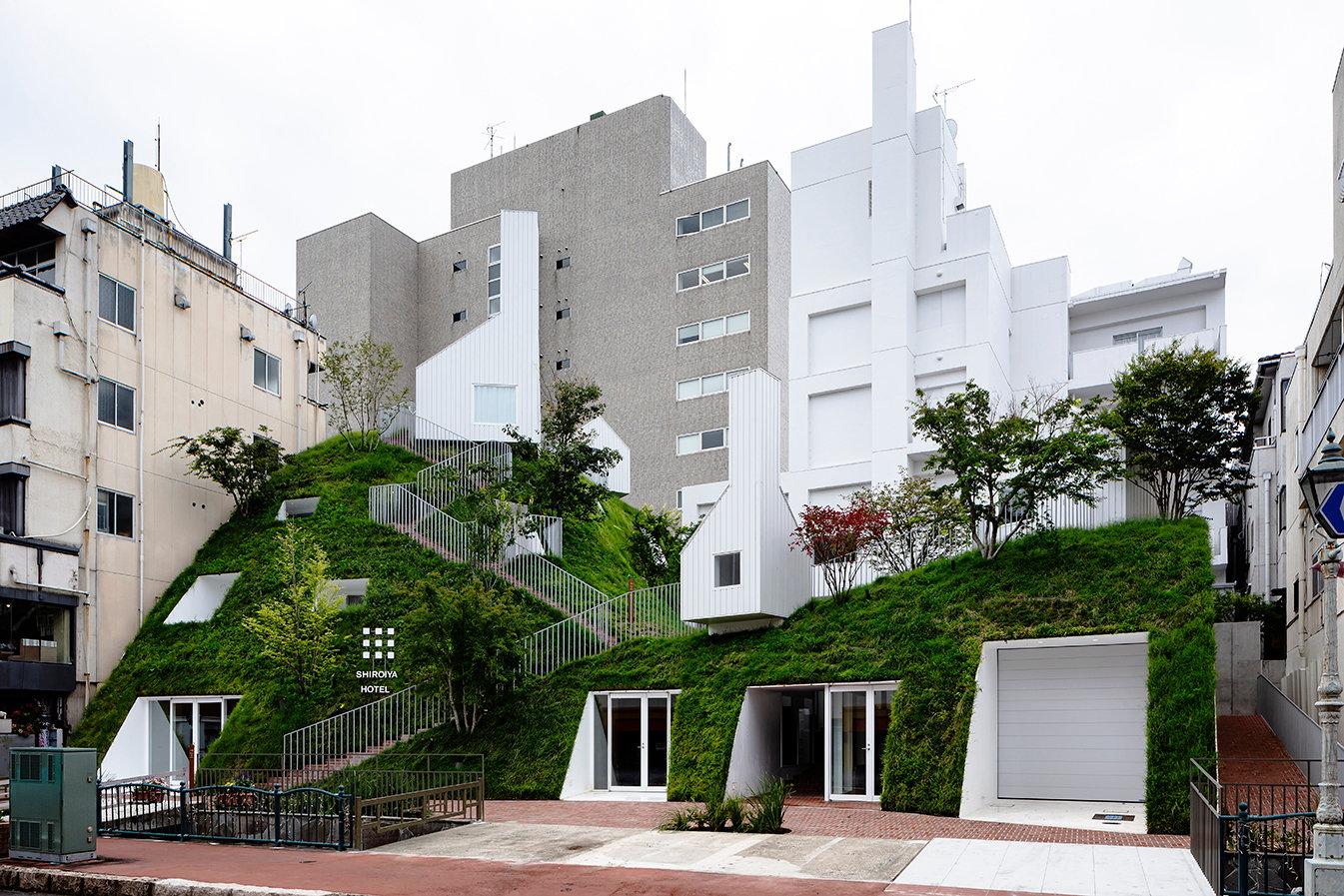Sou Fujimoto Builds a Grassy Hillside in the City for ?Shiroiya Hotel?