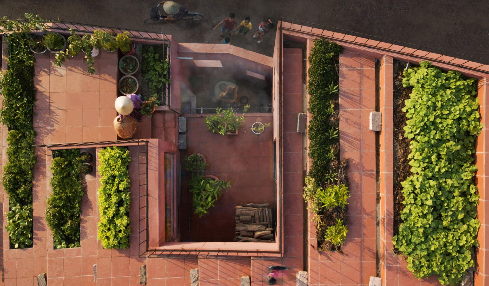 Stepped Rooftop Creates Space For Urban Farming In Vietnam