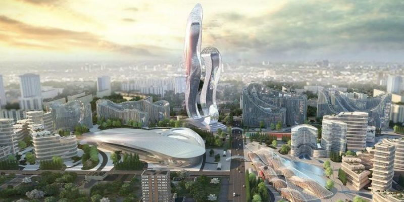 Renderings of the ultra-futuristic, almost sculptural