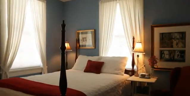Lighthouse Inn's darling 100-year-old bed and breakfast cottage is Tybee Island's romantic hideaway haven amid the quiet of north beach, Tybee Island, GA USA.