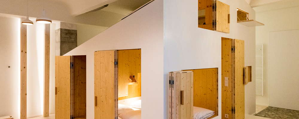 The Hideout - a self contained apartment for retreating to. Includes a sauna, huge bath and kitchenette