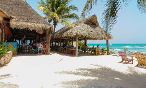 Our beachside restaurant