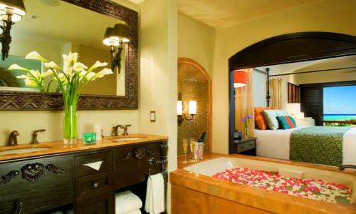 Junior Suite Bathroom at Secrets Maroma Beach Riviera Cancun