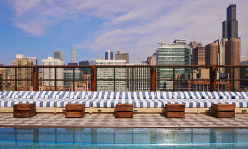 Soho House Chicago rooftop pool