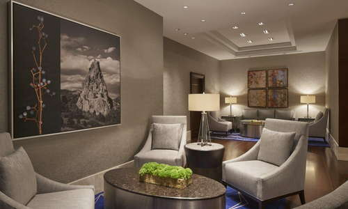 Our reimagined lobby showcases unique pieces of art locally curated in Denver.