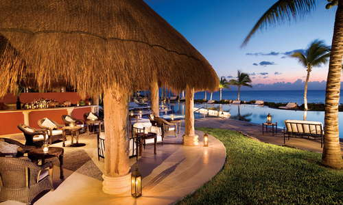 The Hippos Pool Bar located poolside with stunning ocean views.