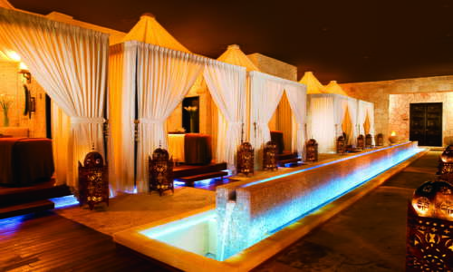 Cabins at the world-class Secrets Spa by Pevonia at Secrets Maroma Beach Riviera Cancun