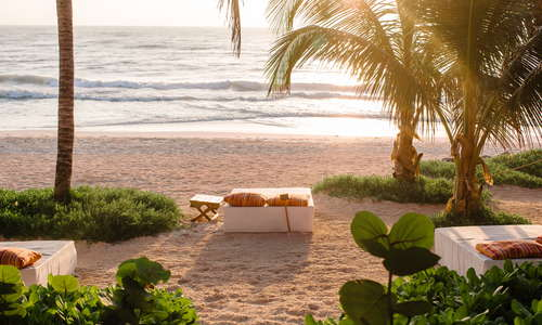 Private beach beds