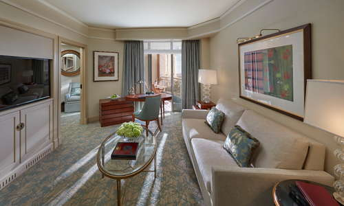 Executive Water View Suite, Living Room, overlooking the Washington Channel.