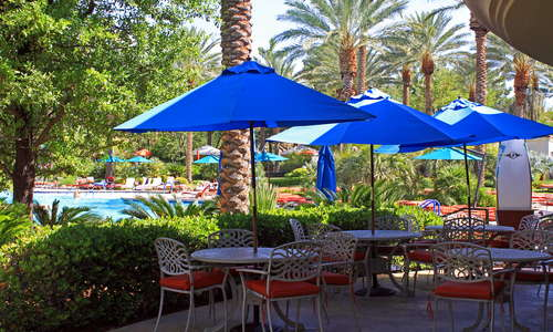 Pool guests find Waterside Cafe is a great option for dining and drinks .