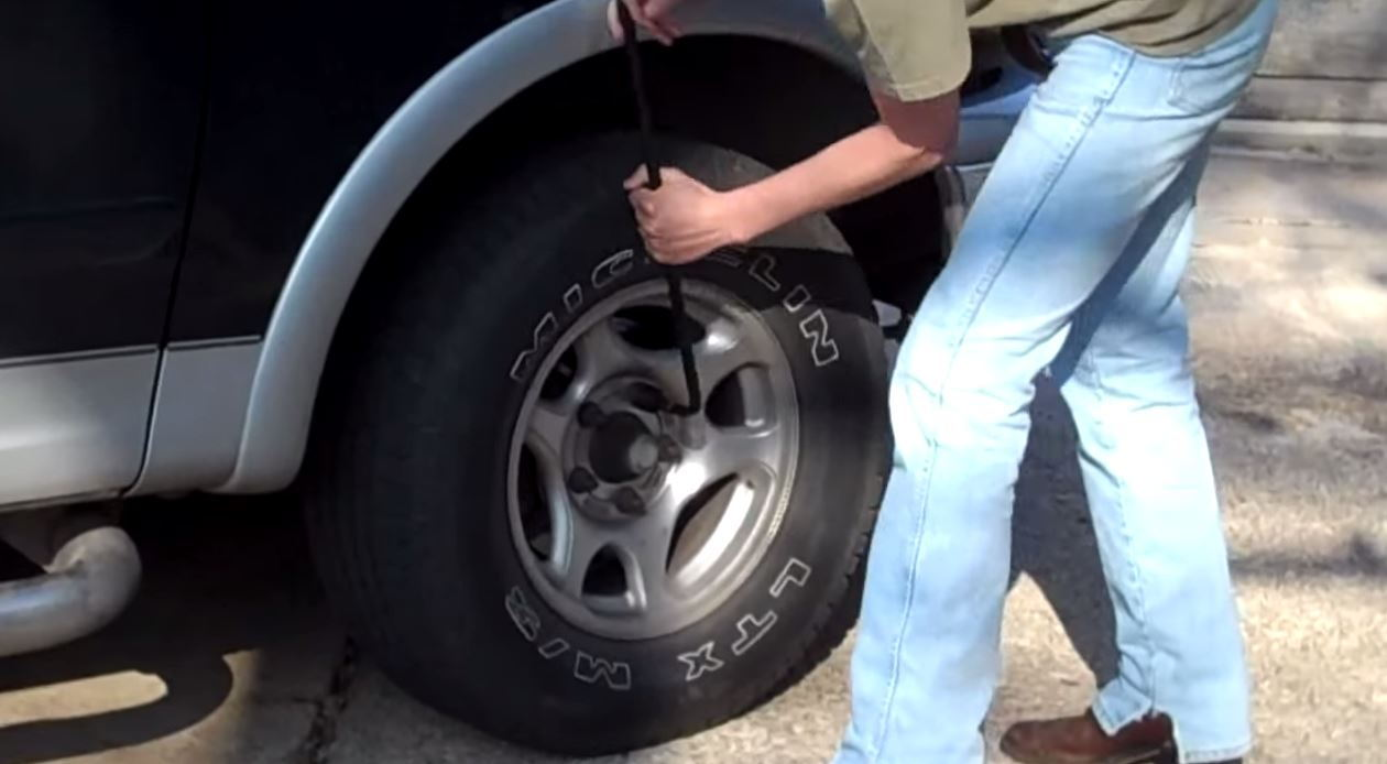Step 2 remove flat tire