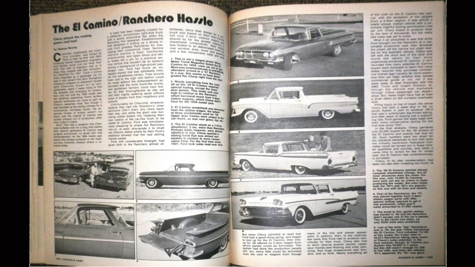 El Camino vs. Ranchero