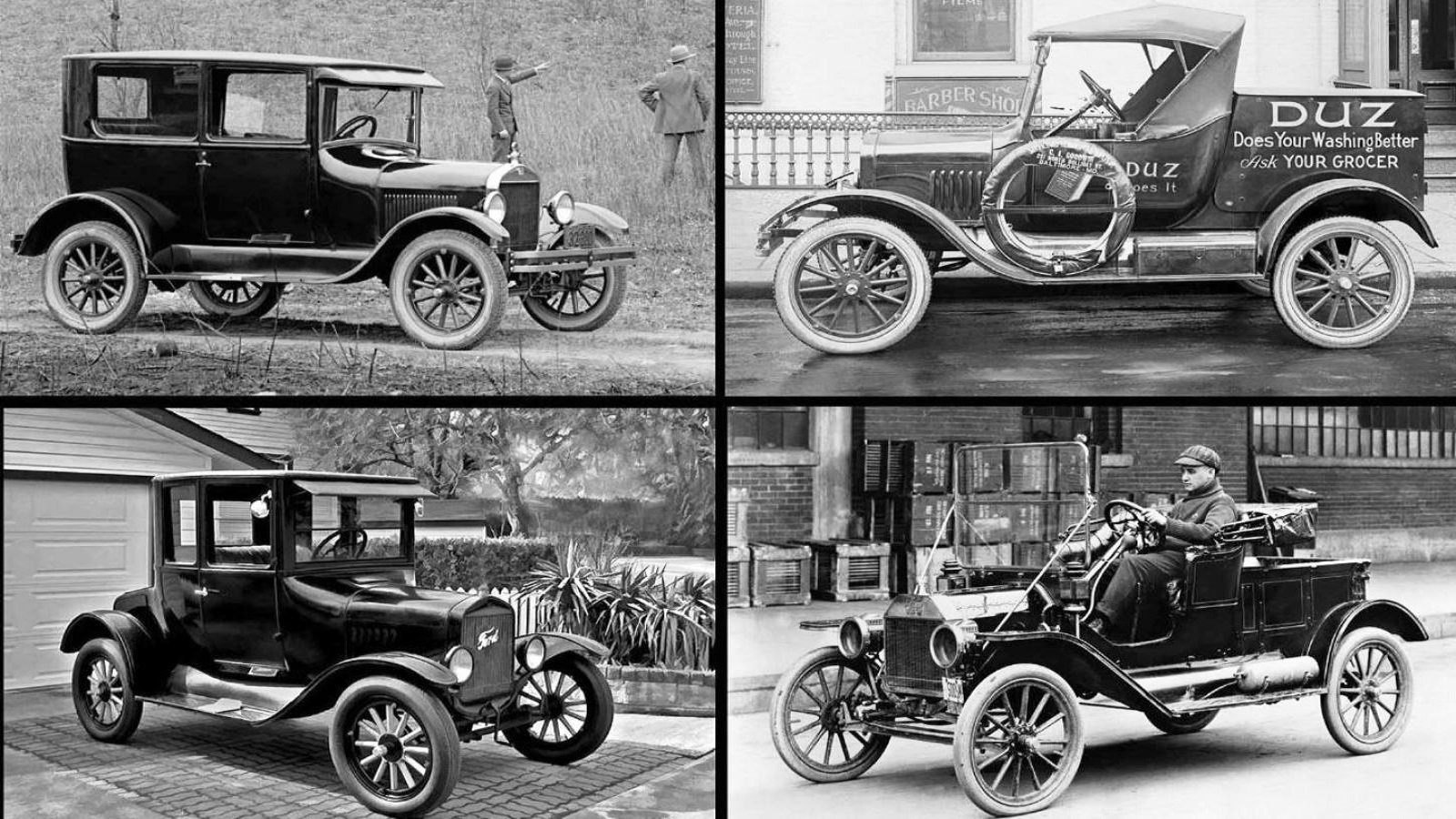 Various Ford Model T body styles