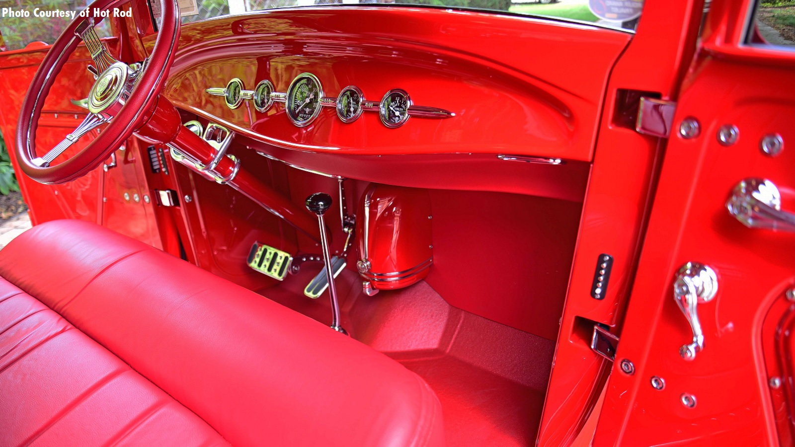 Fiery Red 1929 Ford Pickup