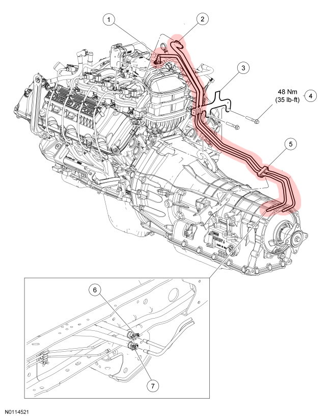 f250 fuel system maintenance ford trucks highlighted above are the fuel lines for an f 250 the 6 2l v8 or v10 triton