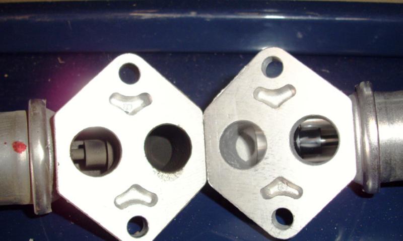 Dirty valve (left) vs clean valve (right)