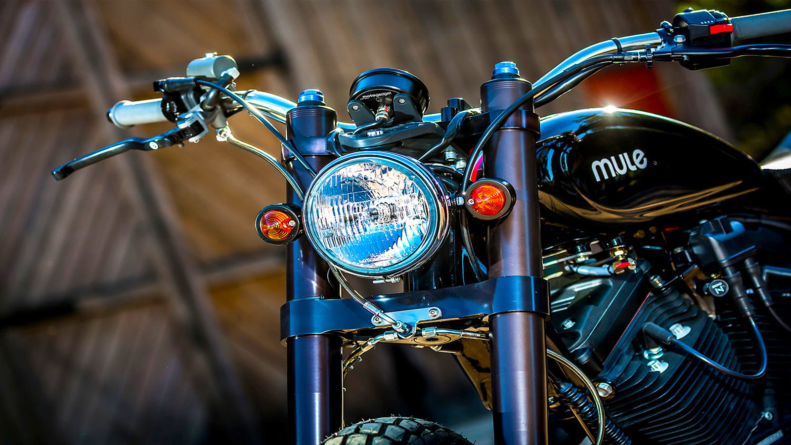 883 Tracker From Mule Motorcycles is Rupert's Ride