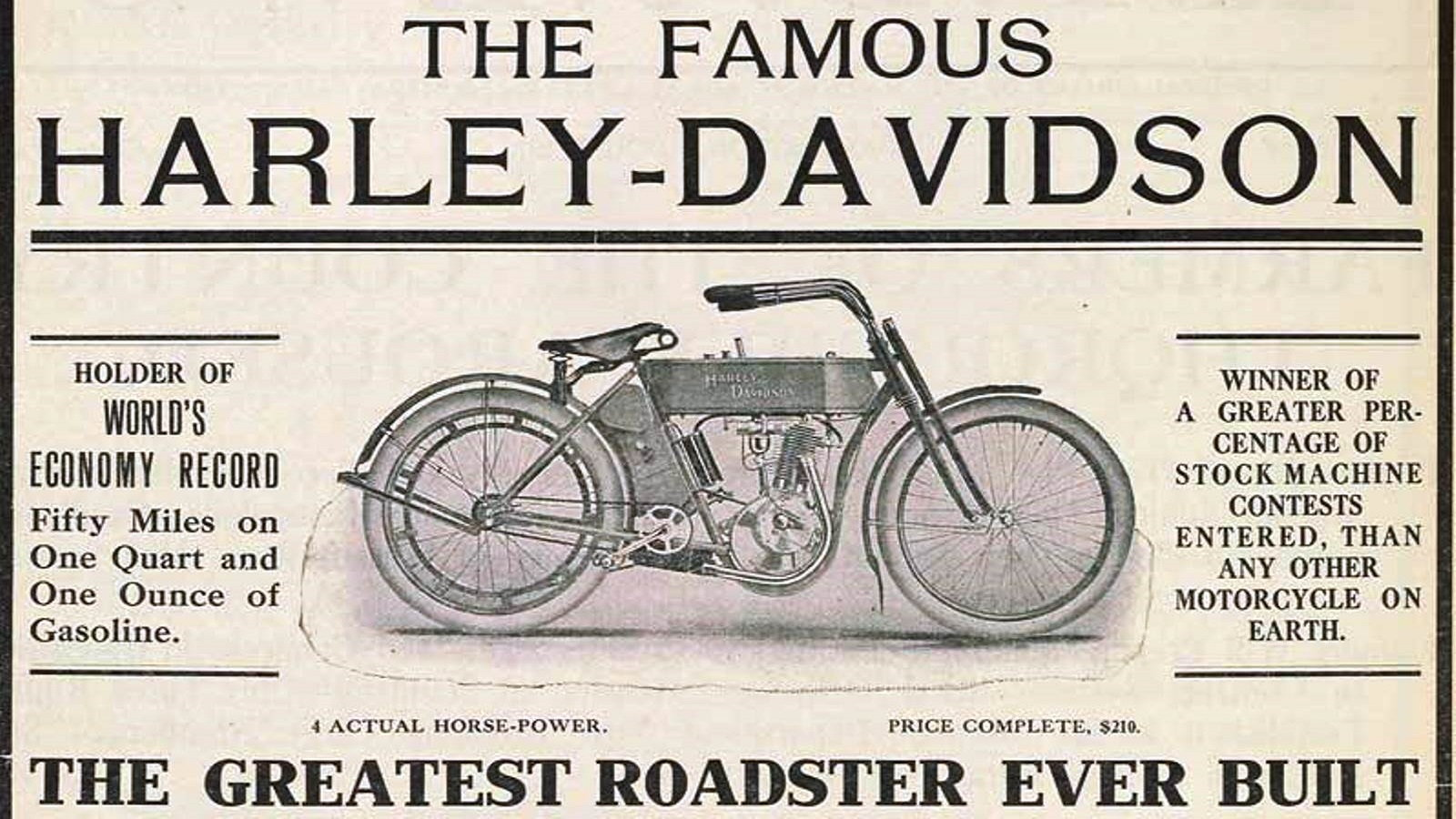 Harley Davidson Advertising: Advertising From The Past