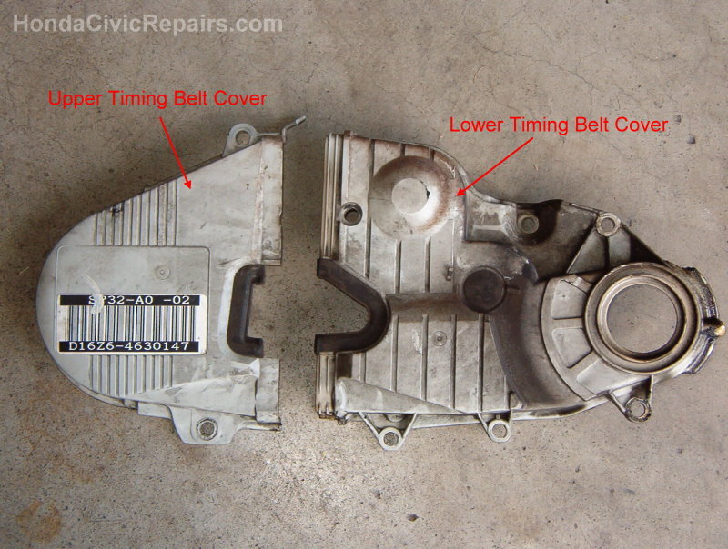 Lowercover on 2001 Honda Civic Timing Belt