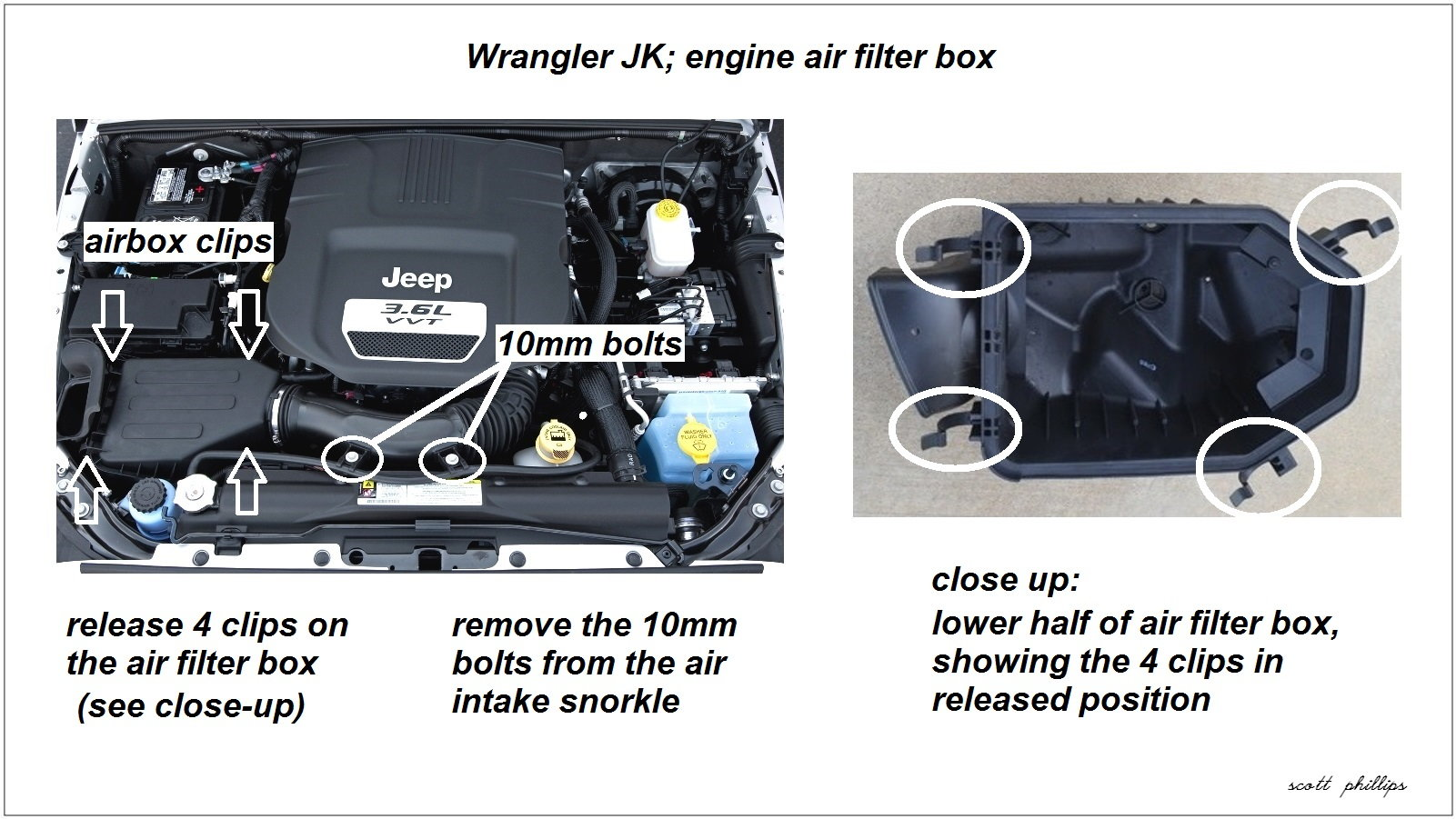 Jeep Wrangler Jk 2007 To 2015 How Replace Air Filter Forum Engine Diagram Box