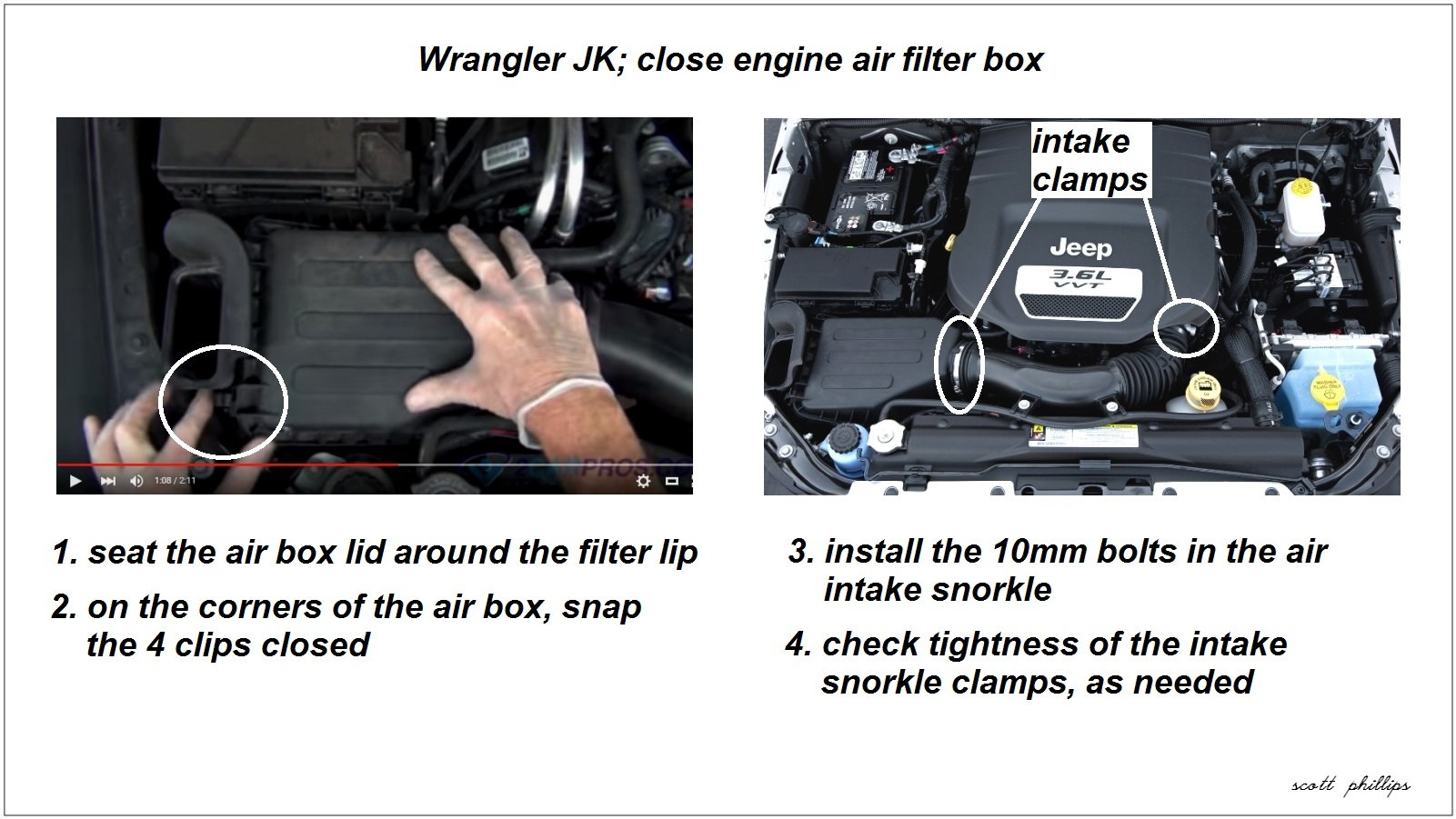 Jeep Wrangler Jk 2007 To 2015 How Replace Air Filter Forum Willys Jeeps On Box Close Engine