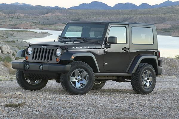 Jeep Wrangler JK with hard top