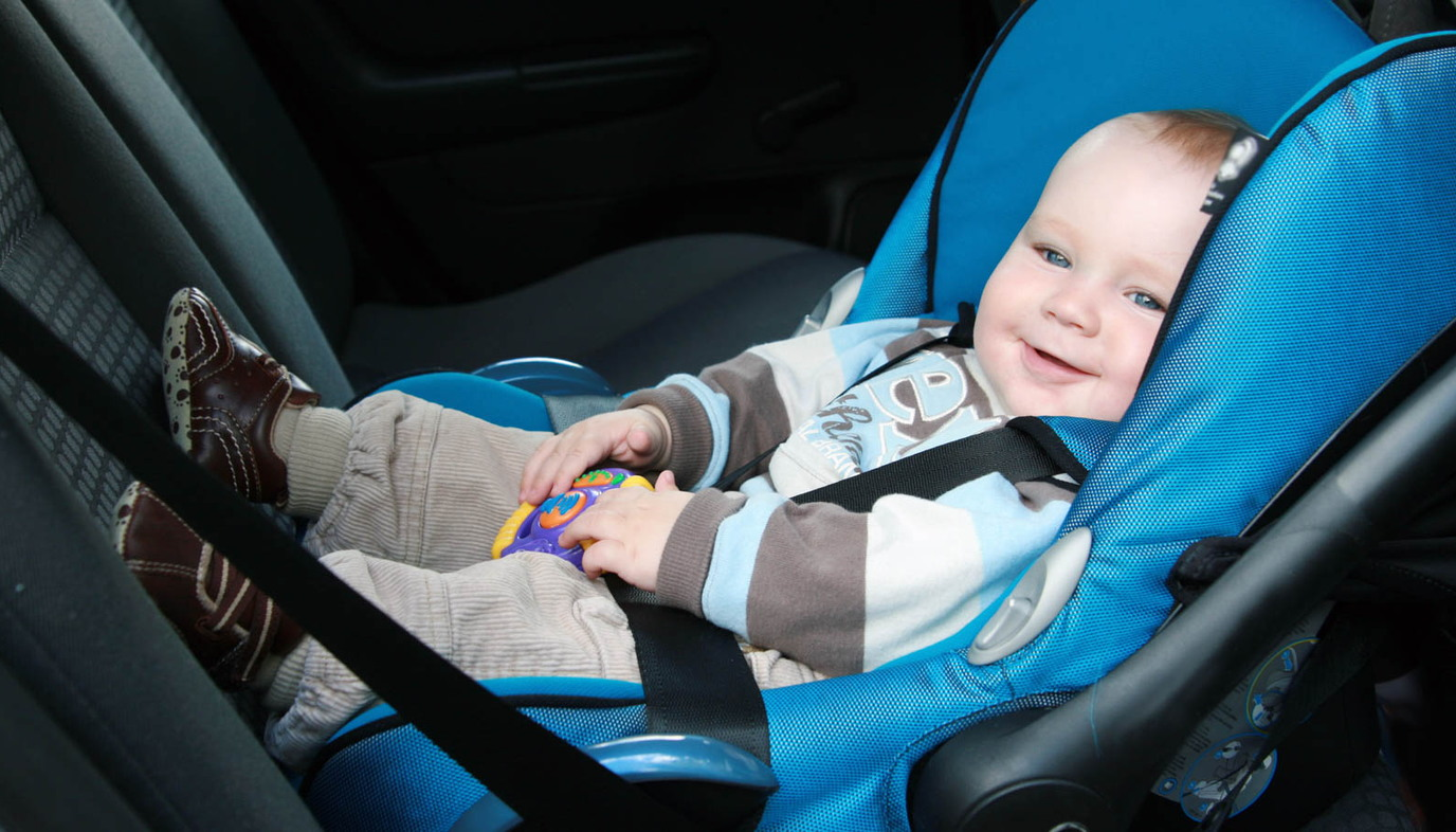 baby in carseat road trip with your baby