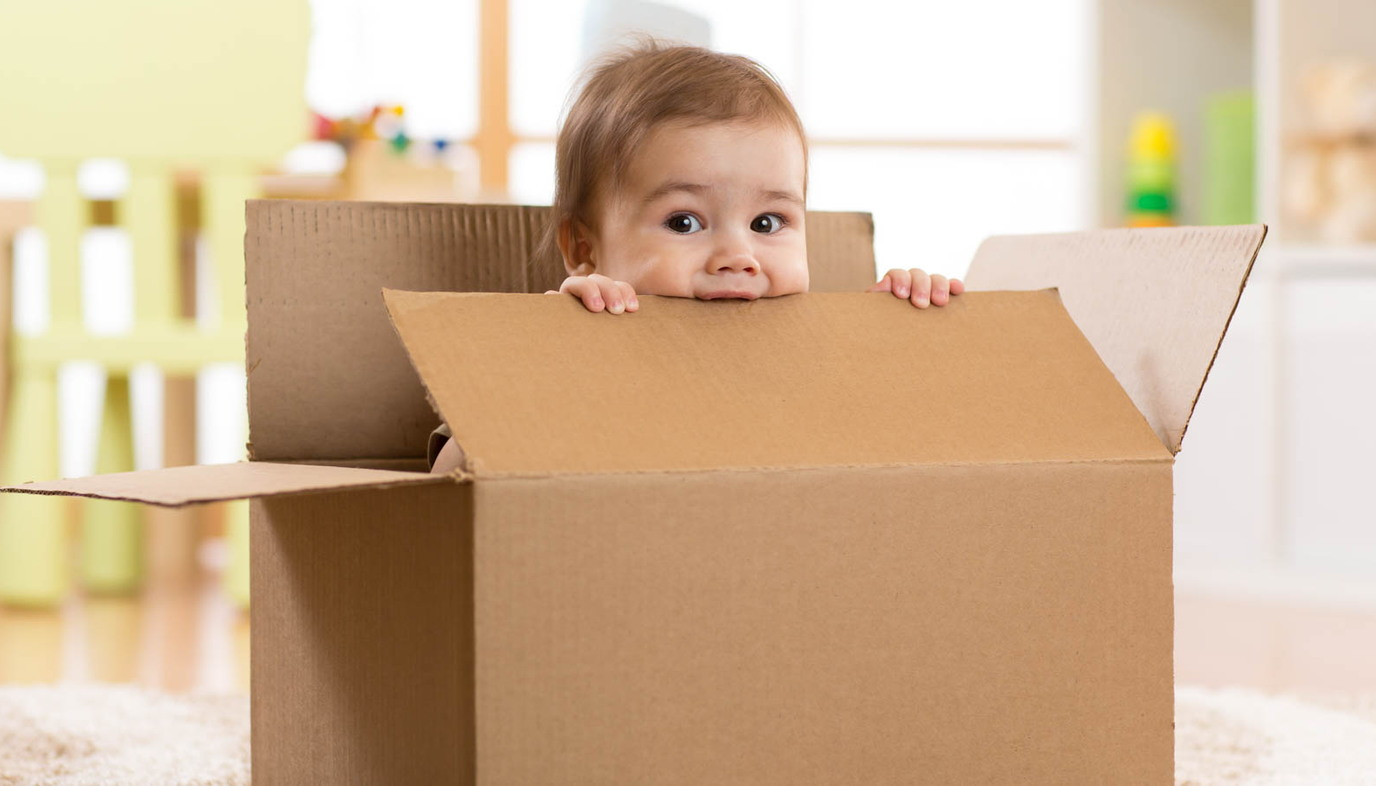 baby inside of box