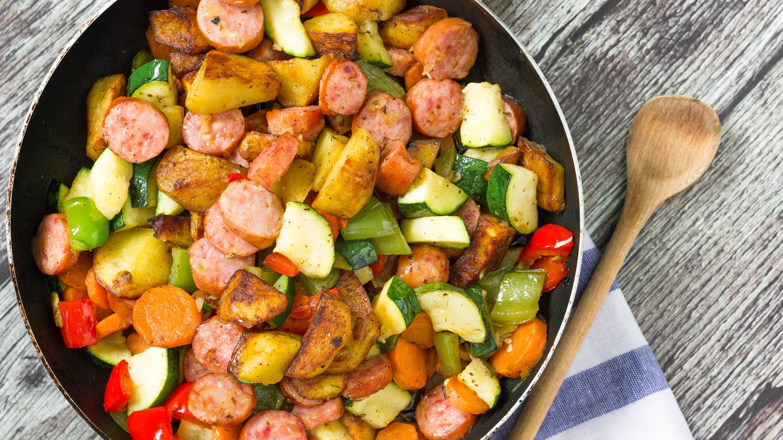 crock pot meal with sausage and vegetables