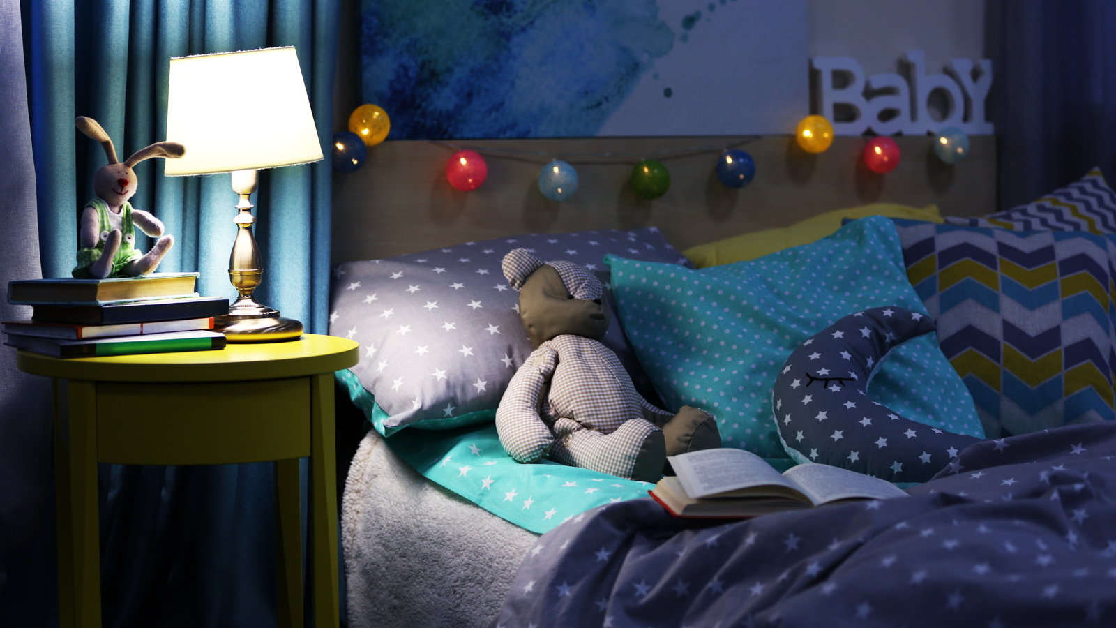 child's bedroom at night