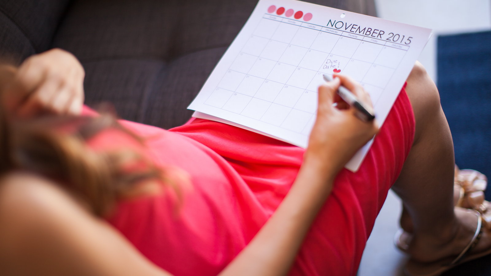 woman planning with calendar