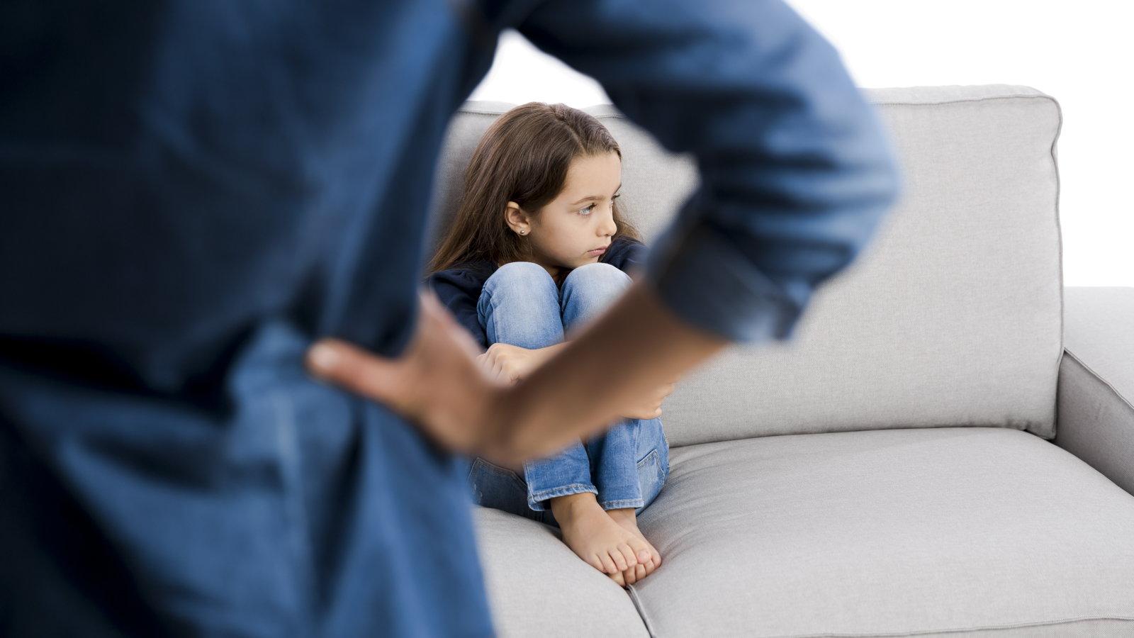 woman punishing daughter