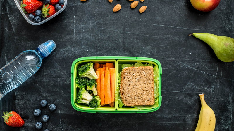 school lunch in containers