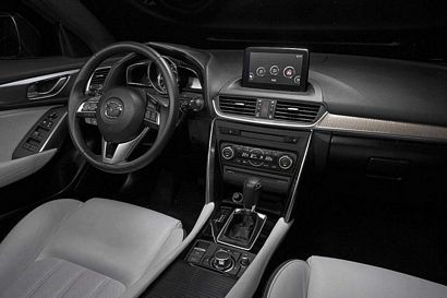 2017 Mazda CX-4 steering wheel and center stack detail