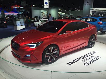 Impreza Sedan Concept at the 2016 North American International Auto Show in Detroit