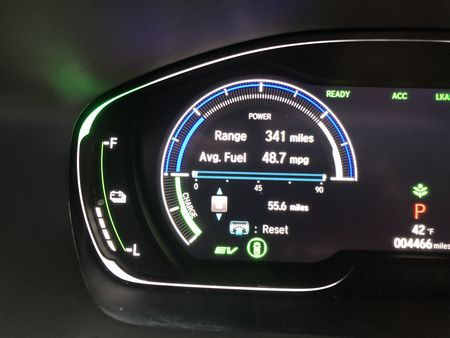 2019 Honda Insight Touring fuel economy