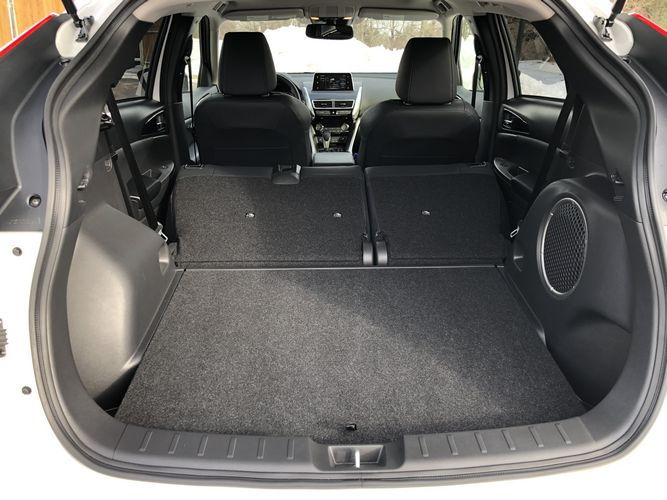 2019 Mitsubishi Eclipse Cross SEL cargo area rear seats flipped