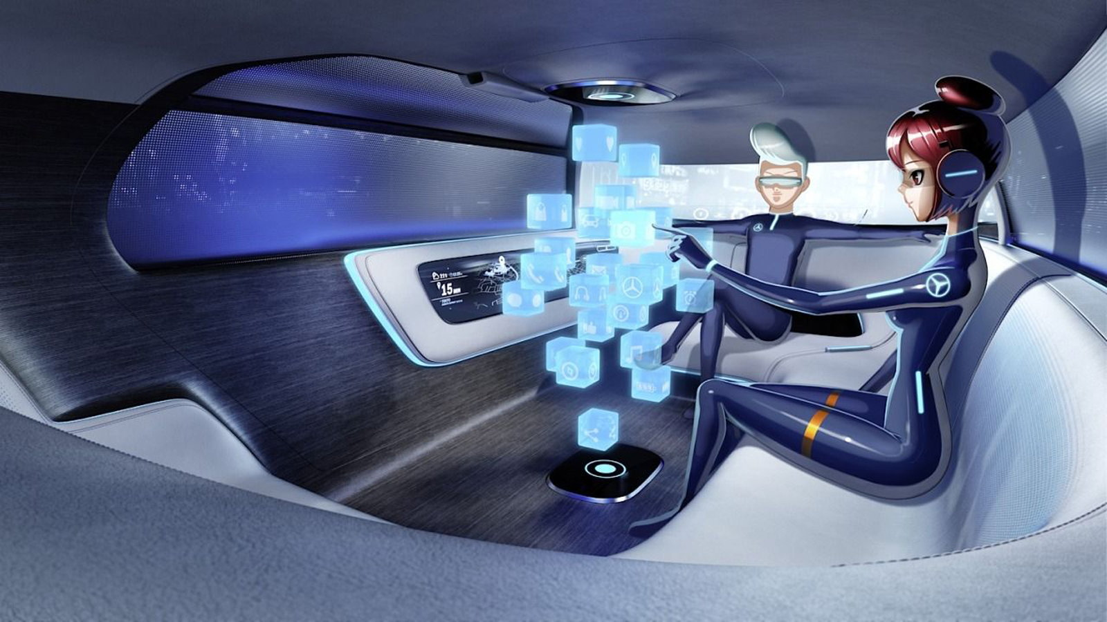 Robot Cars Provide a Posh Future for MB
