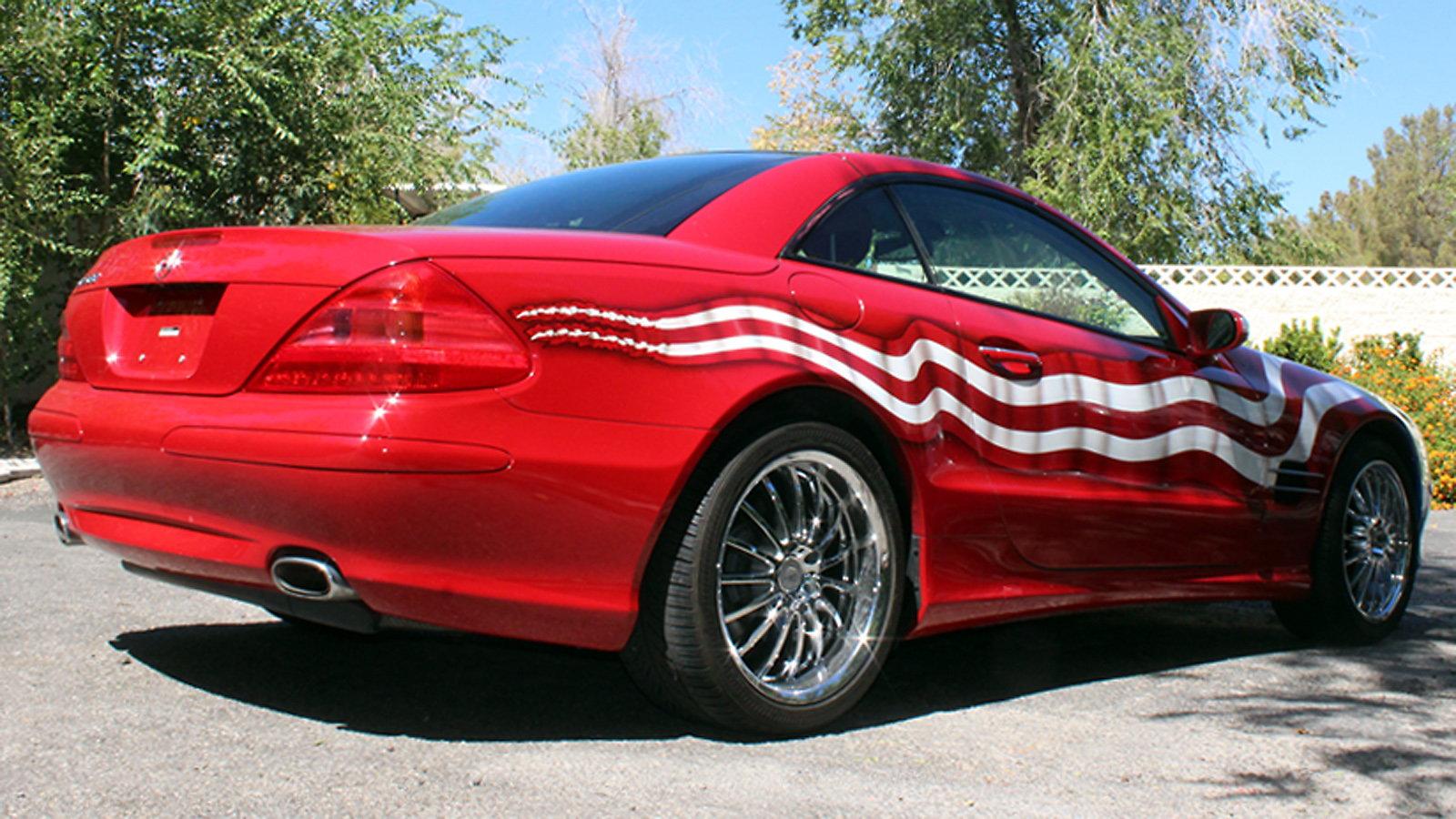 That's No Wrap: B-J Sells the Most Patriotic '04 SL500 in Las Vegas