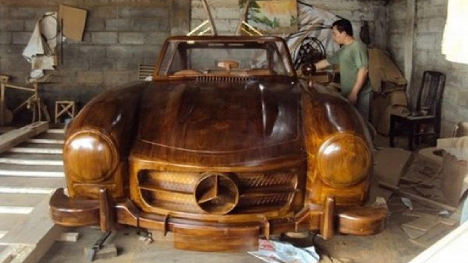 The Mercedes-Benz 300SL Wooden Replica