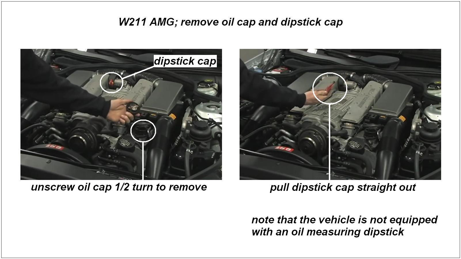 Mercedes benz e class and e class amg w211 how to replace for Mercedes benz e350 oil change