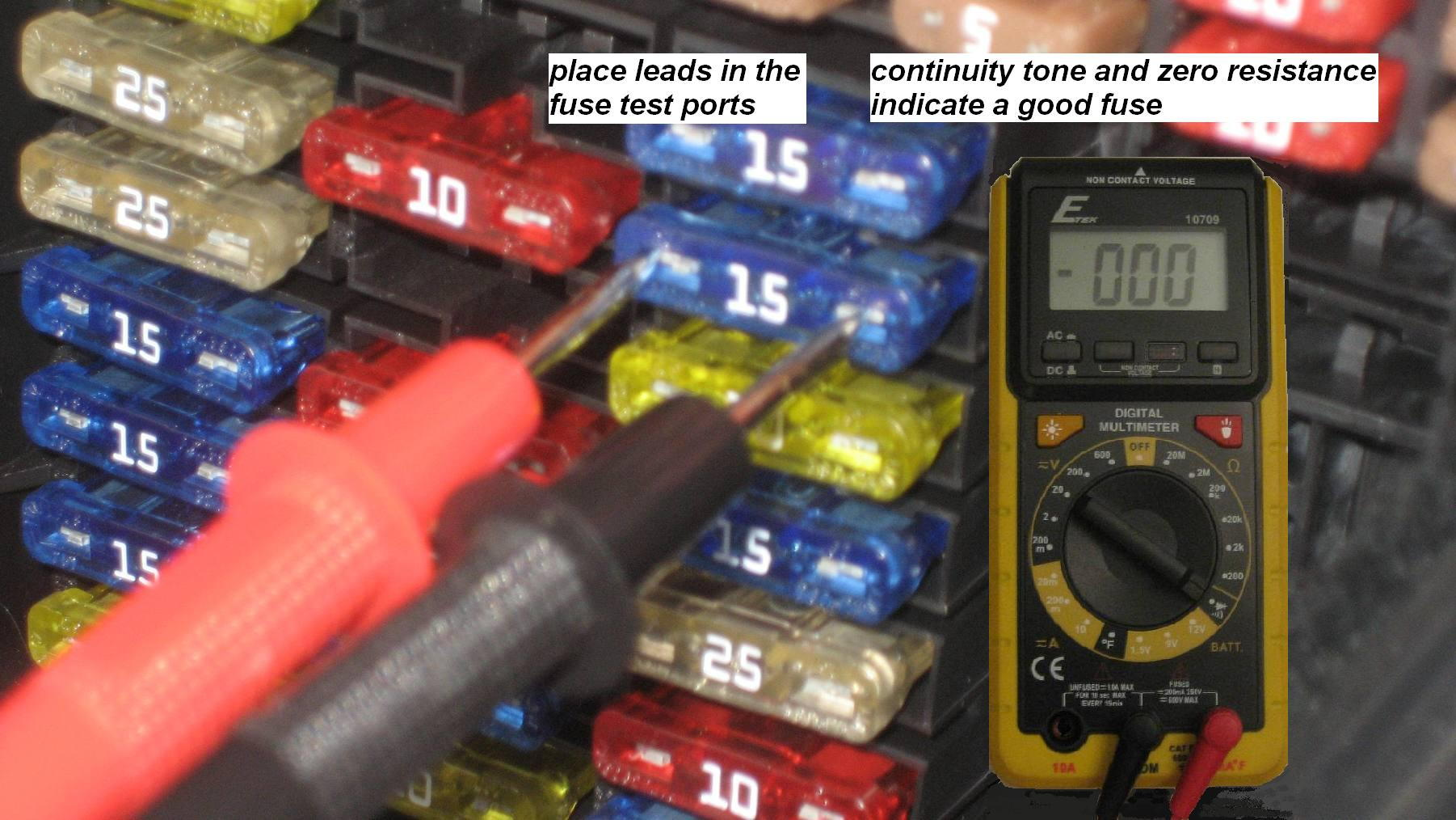 Mercedes Benz C Class W204 Fuse Diagrams And Commonly Blown Fuses 87 Box Testing In Place With A Multimeter