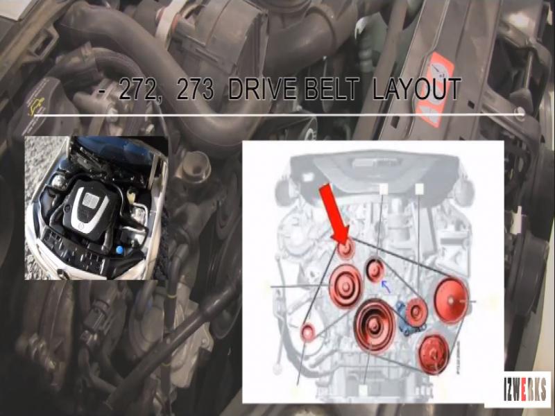 Mercedes Benz E Class W211 C Class W205 How To Replace Serpentine Belt