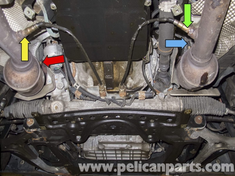 Mercedes Benz W211 E Class How To Replace Oxygen Sensor Mbworldrhmbworldorg: Mercedes O2 Sensor Location At Gmaili.net