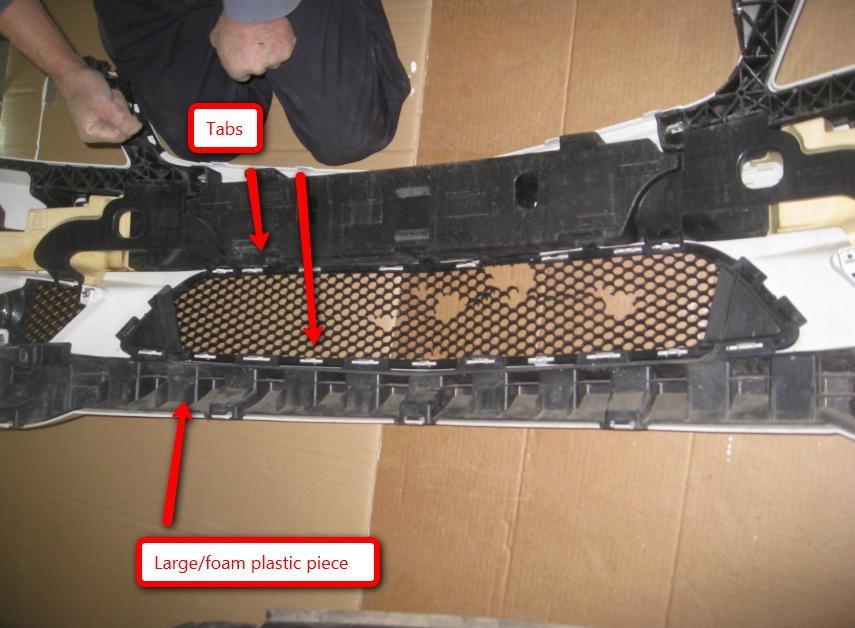 Mercedes benz c class w204 how to repair lower grill mesh for Mercedes benz bumper repair